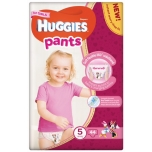 Huggies püksmähkmed Pants 5 Mega Girl 13-17kg 44tk